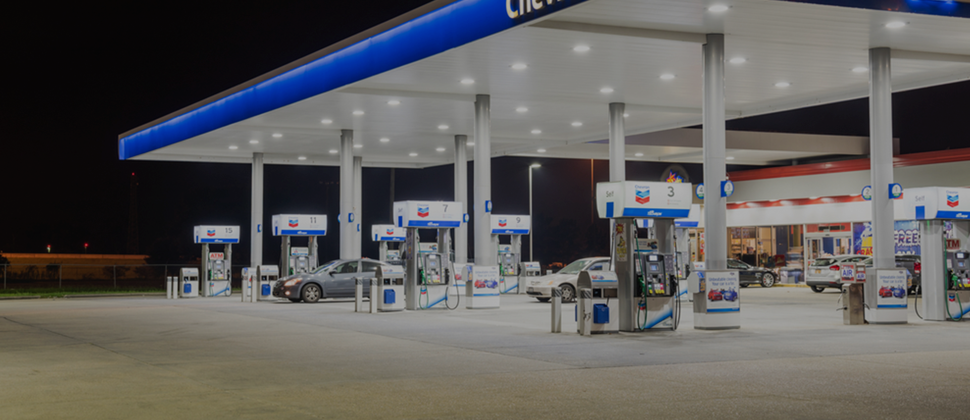 Chevron-forecourt-with-Gilbarco-dispensers