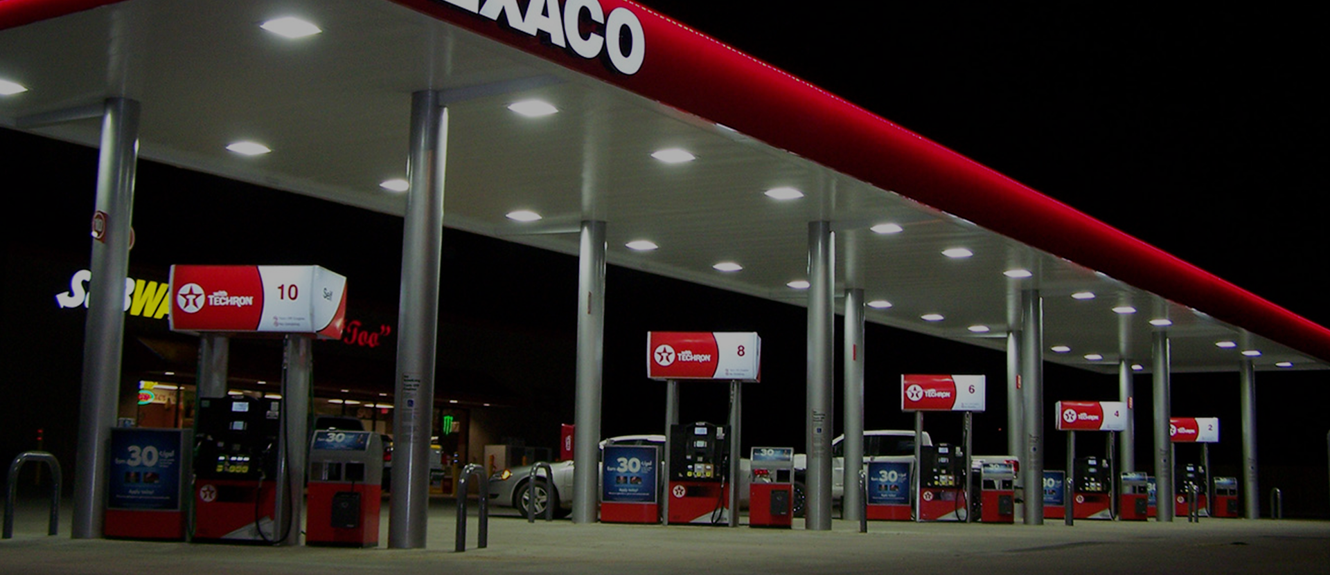 Texaco-forecourt-with-Gilbarco-dispensers